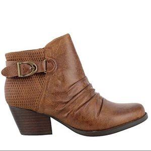 BARE TRAPS REINELLA BOOTIE Brown Zip Up Heel Sz 10